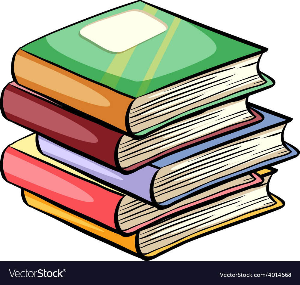 A pile of books vector | Price: 1 Credit (USD $1)