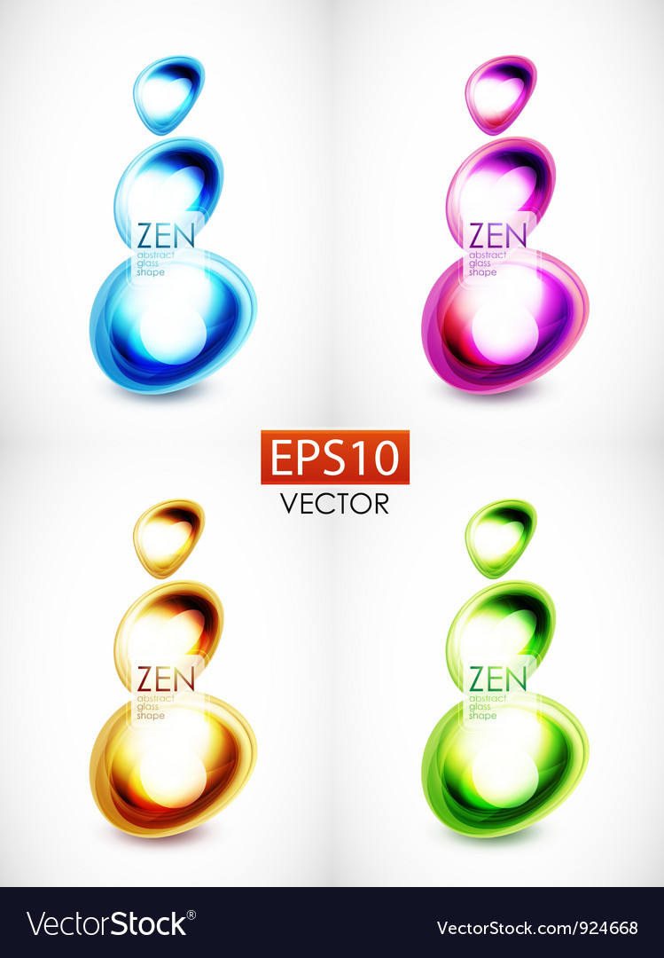 Abstract glass shape composition vector | Price: 1 Credit (USD $1)