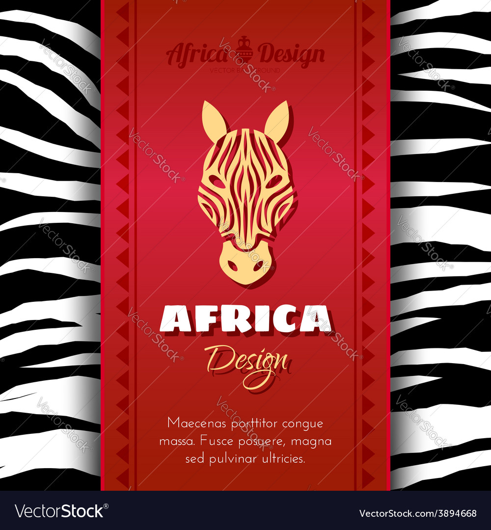 African tribal ethnic art background vector | Price: 1 Credit (USD $1)