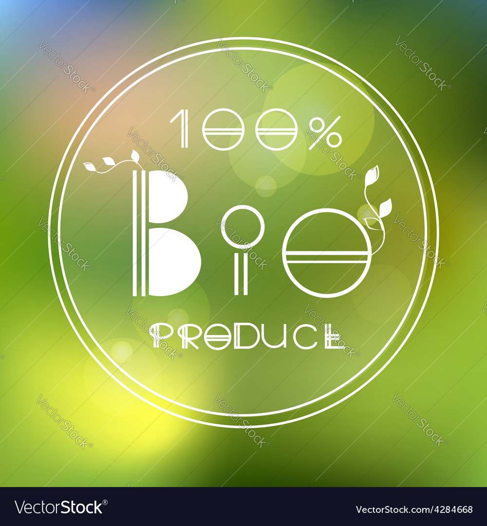 Blurred nature background with eco label of vector | Price: 1 Credit (USD $1)