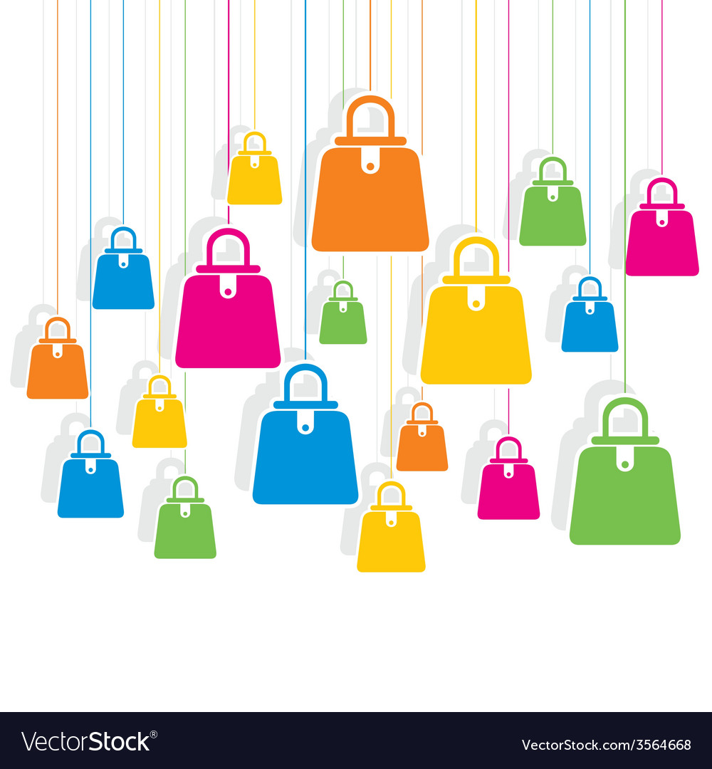Creative colorful shopping bag pattern vector | Price: 1 Credit (USD $1)