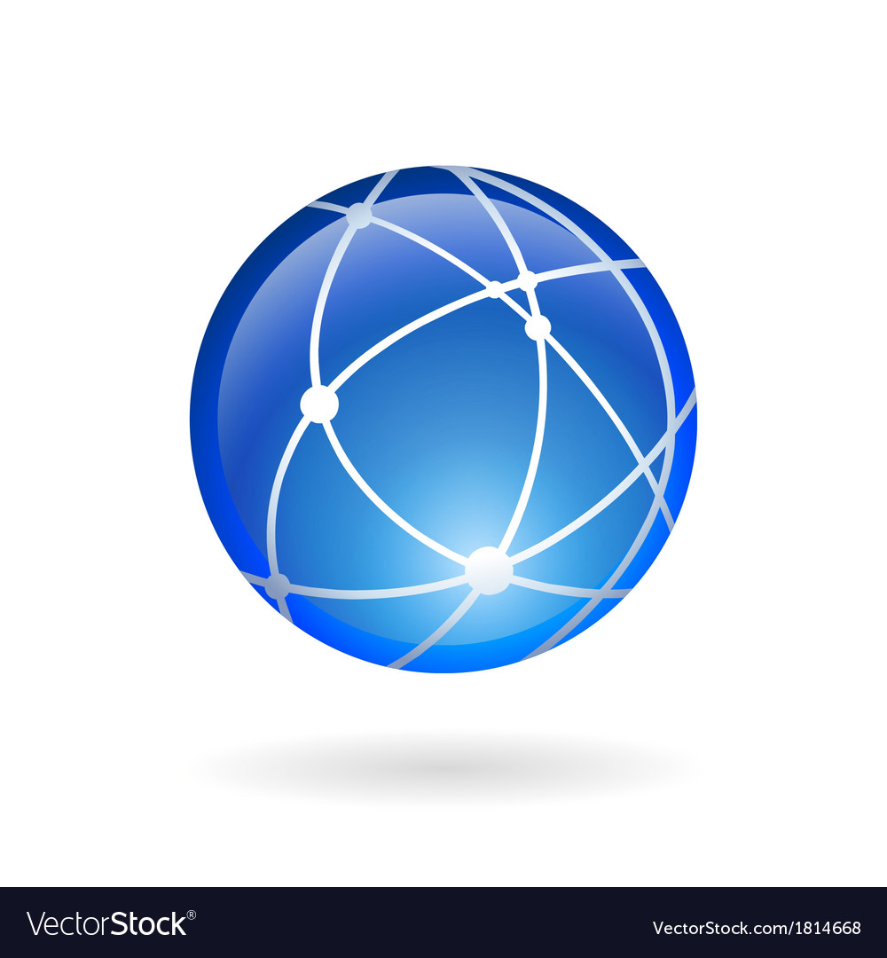 Global technology or social network emblem vector | Price: 1 Credit (USD $1)