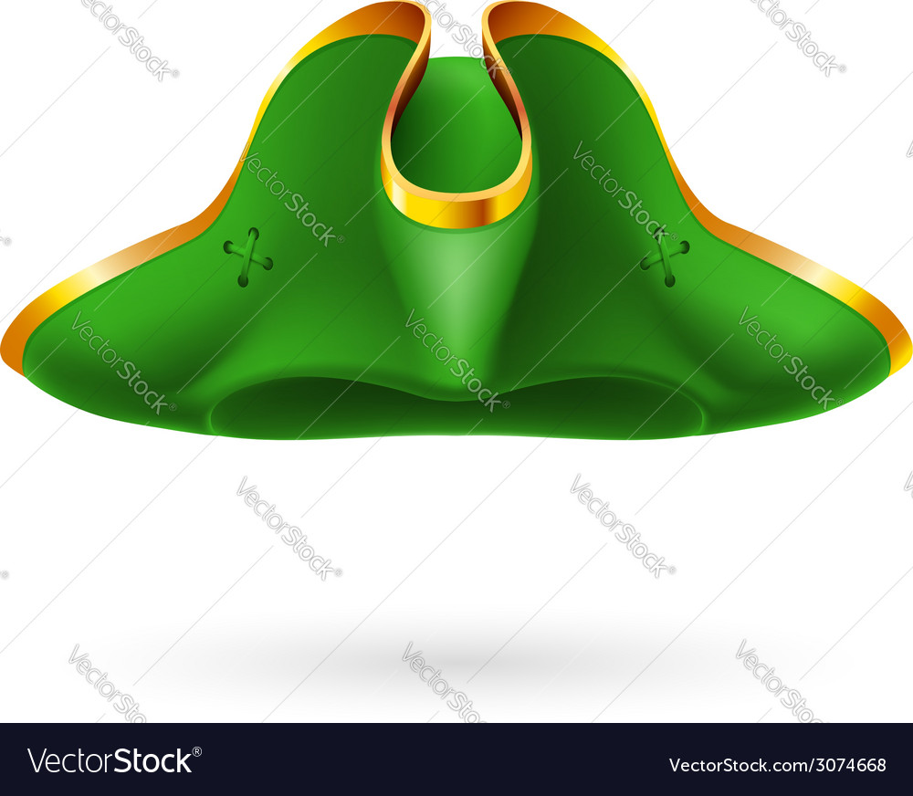 Green cocked hat vector   Price: 1 Credit (USD $1)
