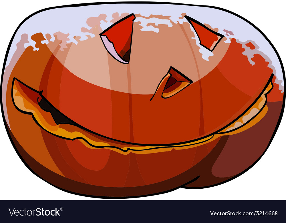 Halloween pumpkin covered with snow vector | Price: 1 Credit (USD $1)