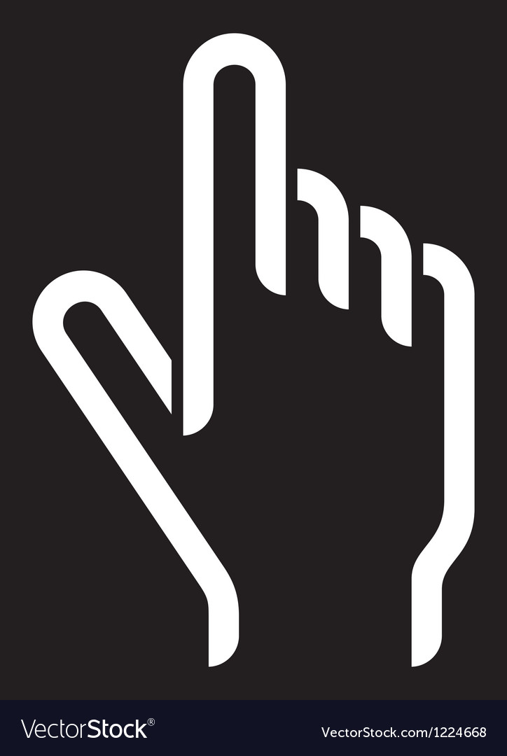 Hand cursor vector | Price: 1 Credit (USD $1)