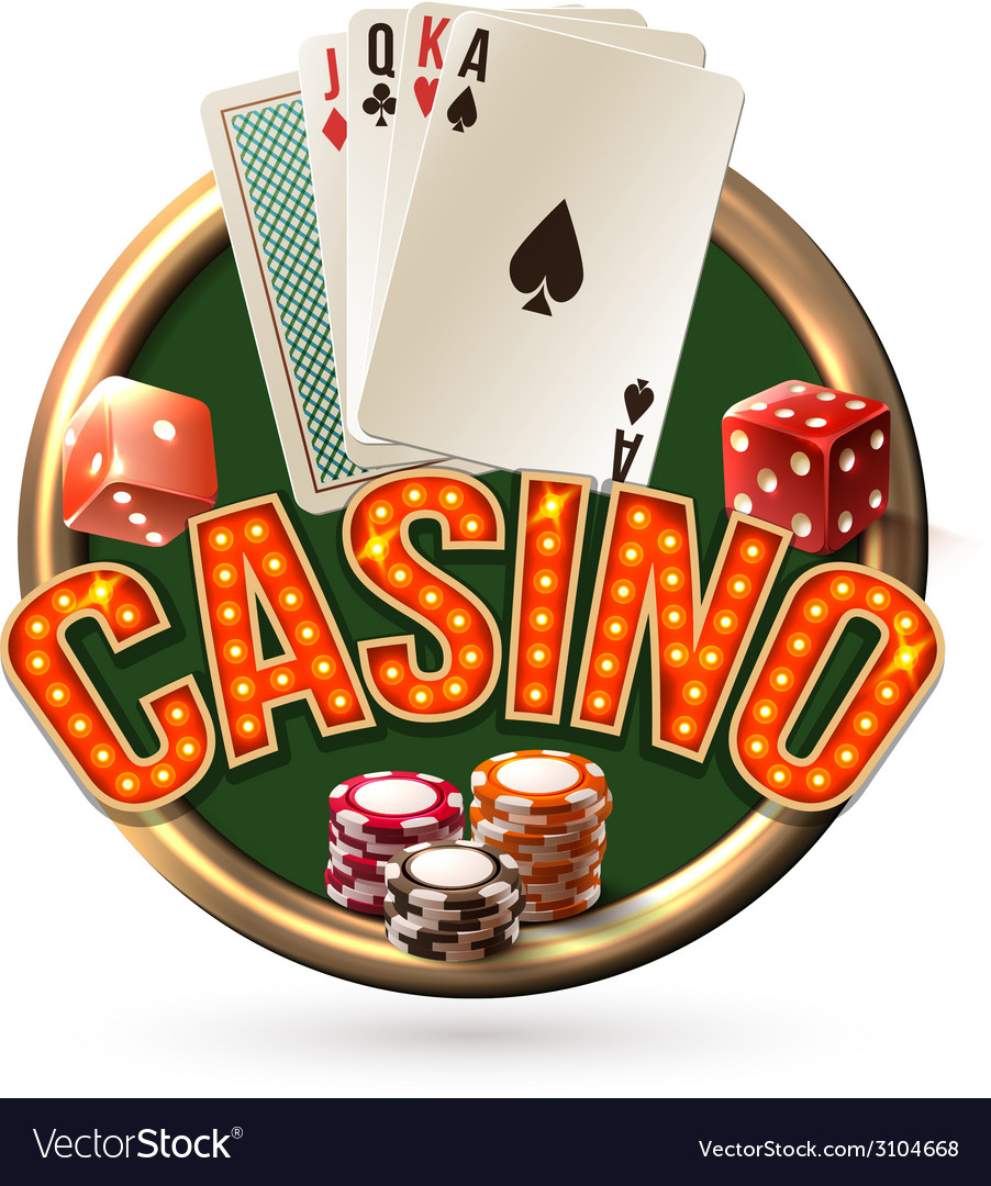 Pocker casino emblem vector | Price: 1 Credit (USD $1)