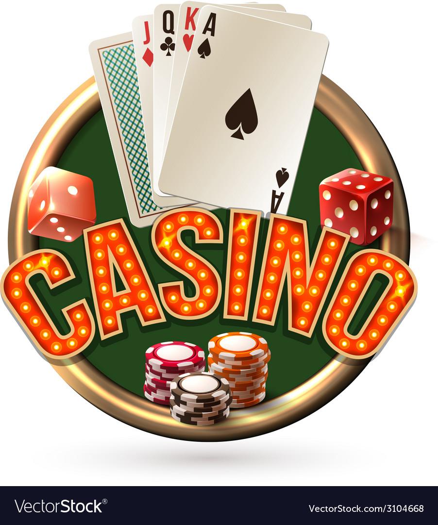 Pocker casino emblem vector   Price: 1 Credit (USD $1)