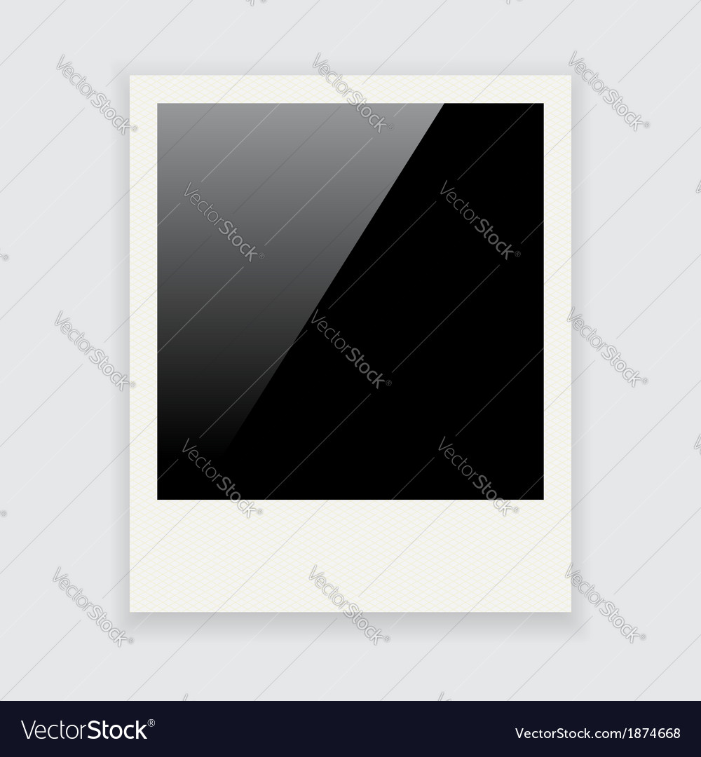 Polaroid frame vector | Price: 1 Credit (USD $1)