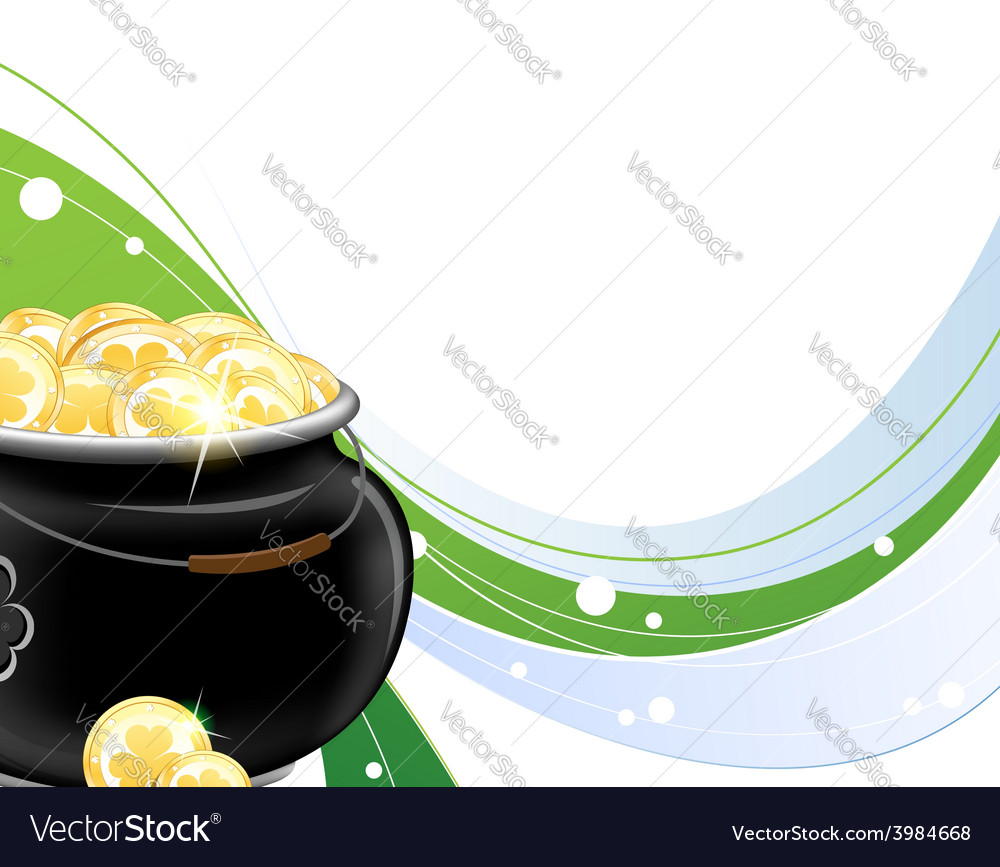 Pot with gold coins vector | Price: 1 Credit (USD $1)