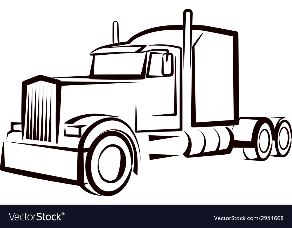Simple with a truck vector | Price: 1 Credit (USD $1)