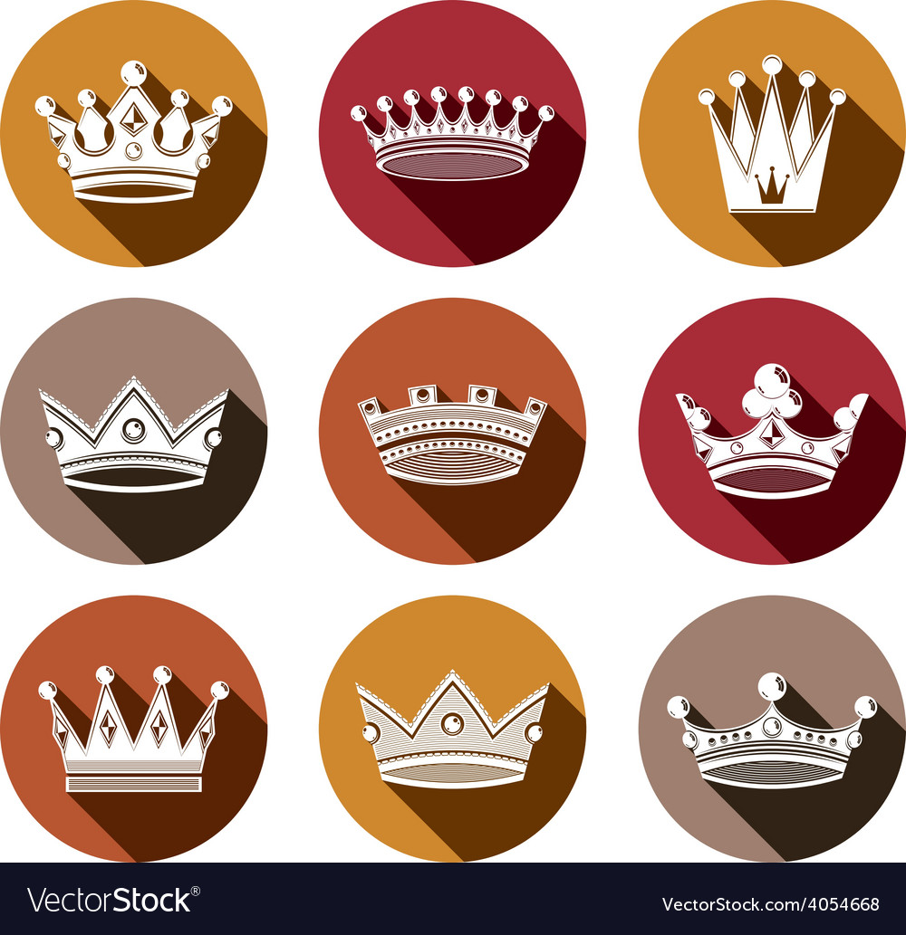 Stylized royal 3d design elements set of king vector | Price: 1 Credit (USD $1)