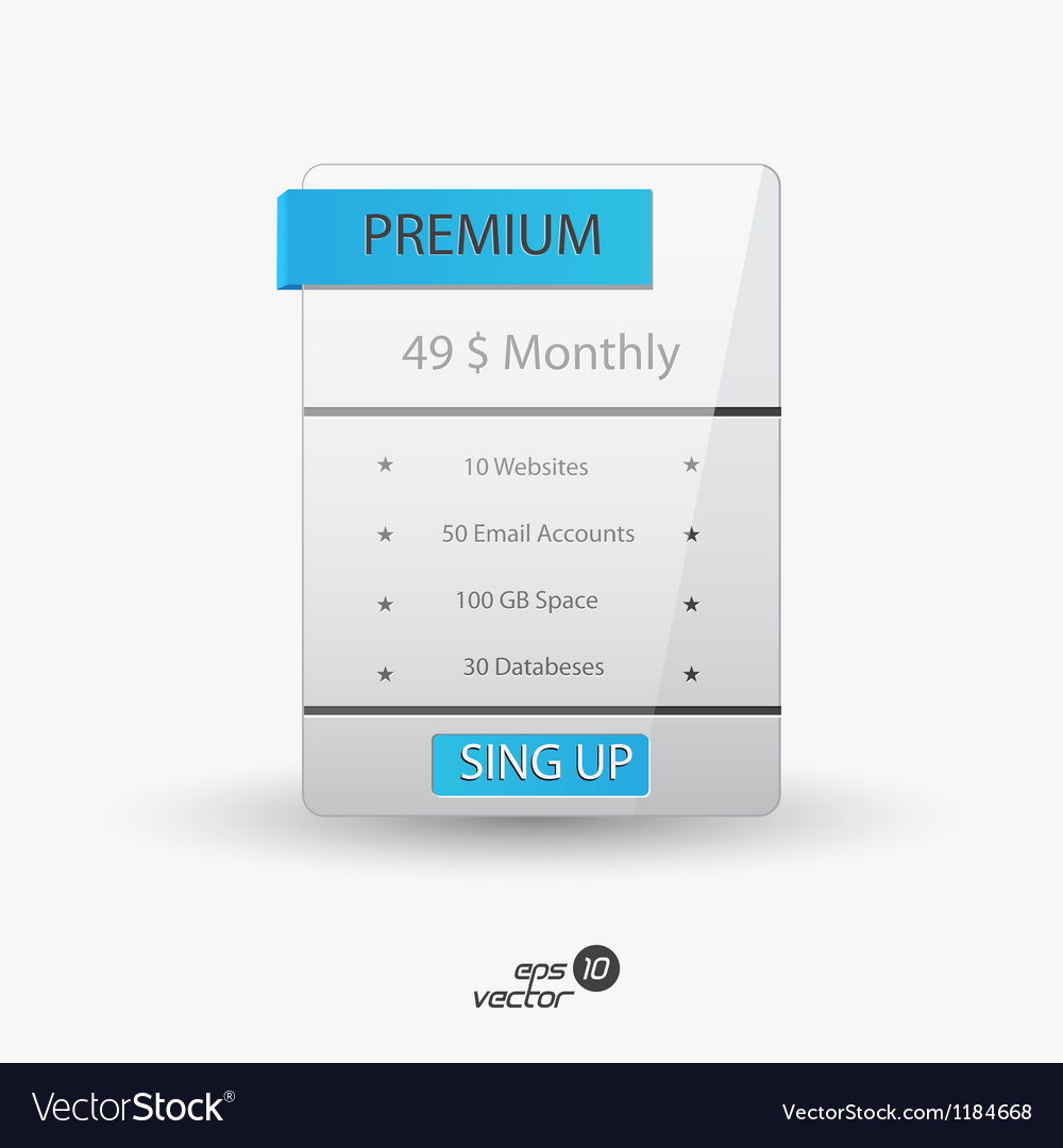 Web boxes hosting plans vector | Price: 1 Credit (USD $1)