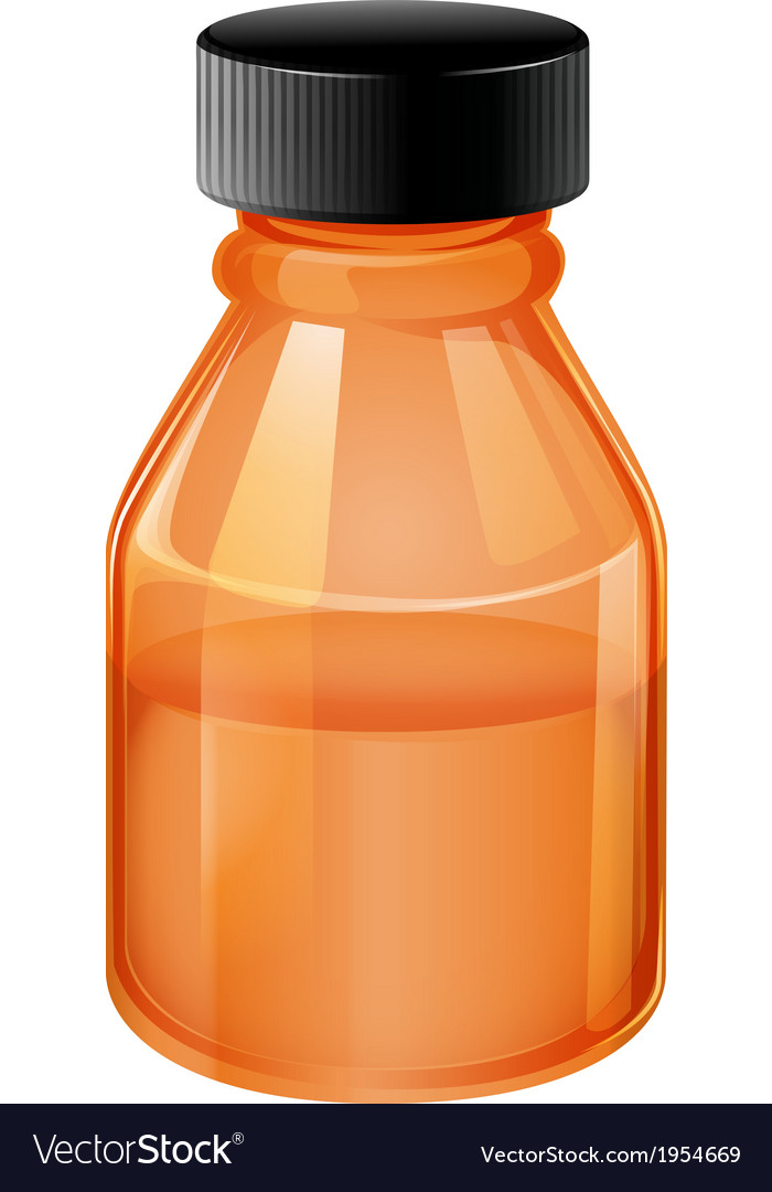 An orange medical bottle vector | Price: 1 Credit (USD $1)