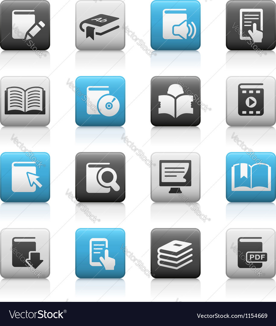 Books icons matte series vector | Price: 1 Credit (USD $1)