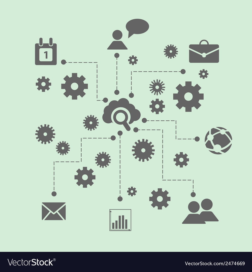 Concept of business team work vector | Price: 1 Credit (USD $1)