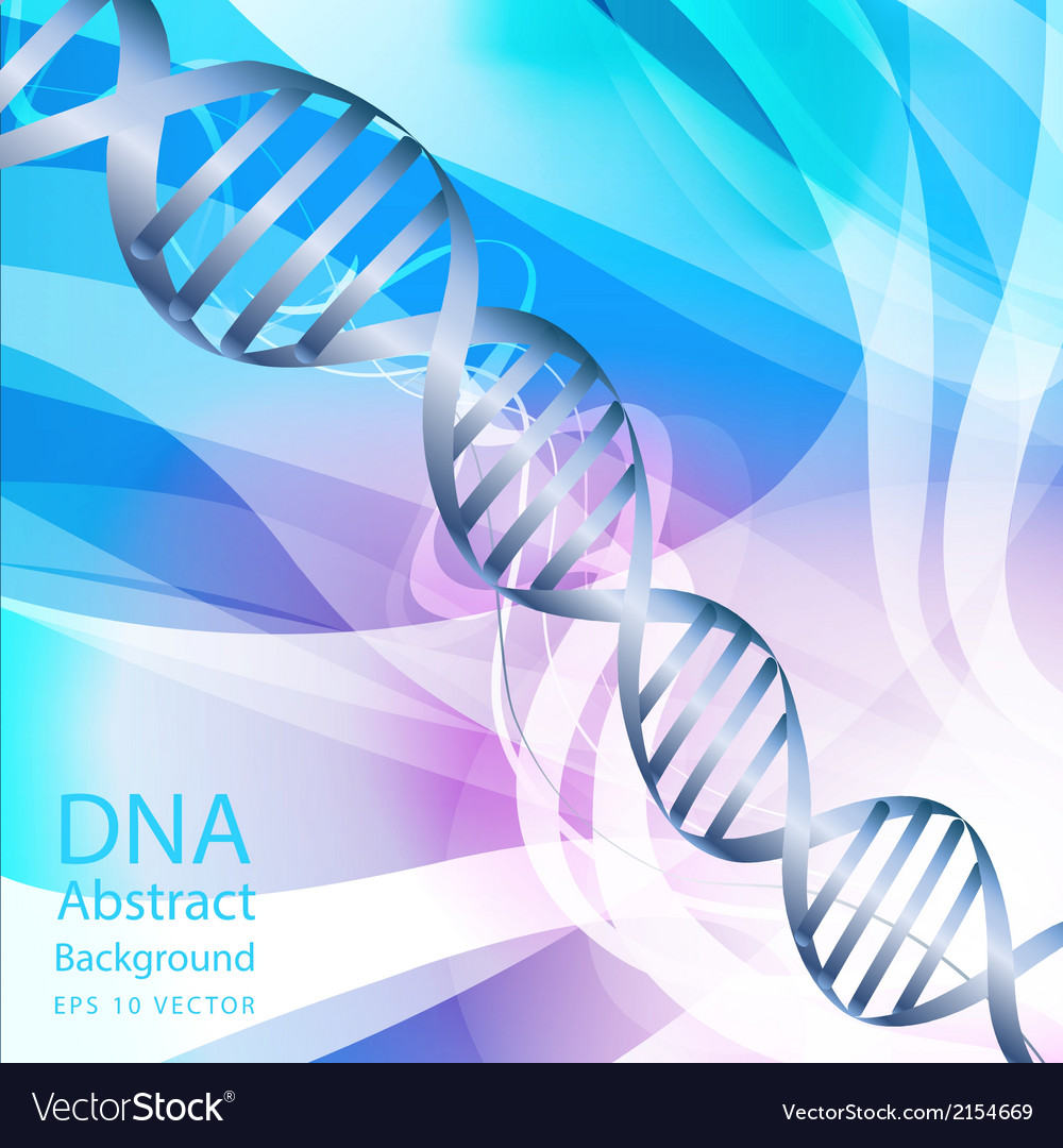 Dna white colour abstract background vector | Price: 1 Credit (USD $1)