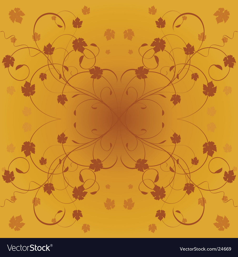 Floral autumn leaves vector | Price: 1 Credit (USD $1)