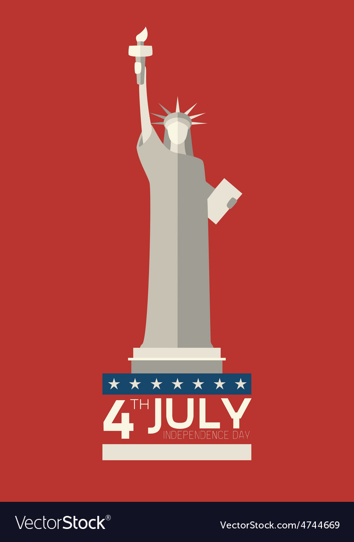 July 4 th independence day statue of liberty usa vector | Price: 1 Credit (USD $1)