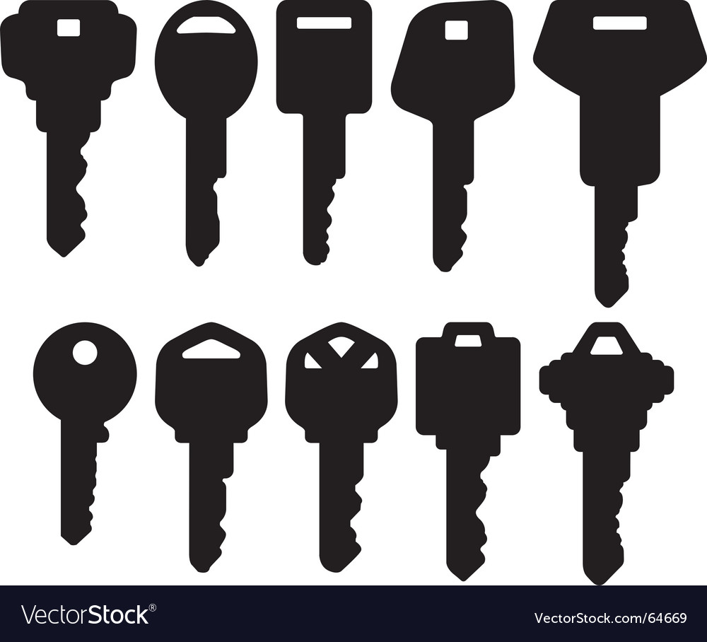Key icons vector | Price: 1 Credit (USD $1)