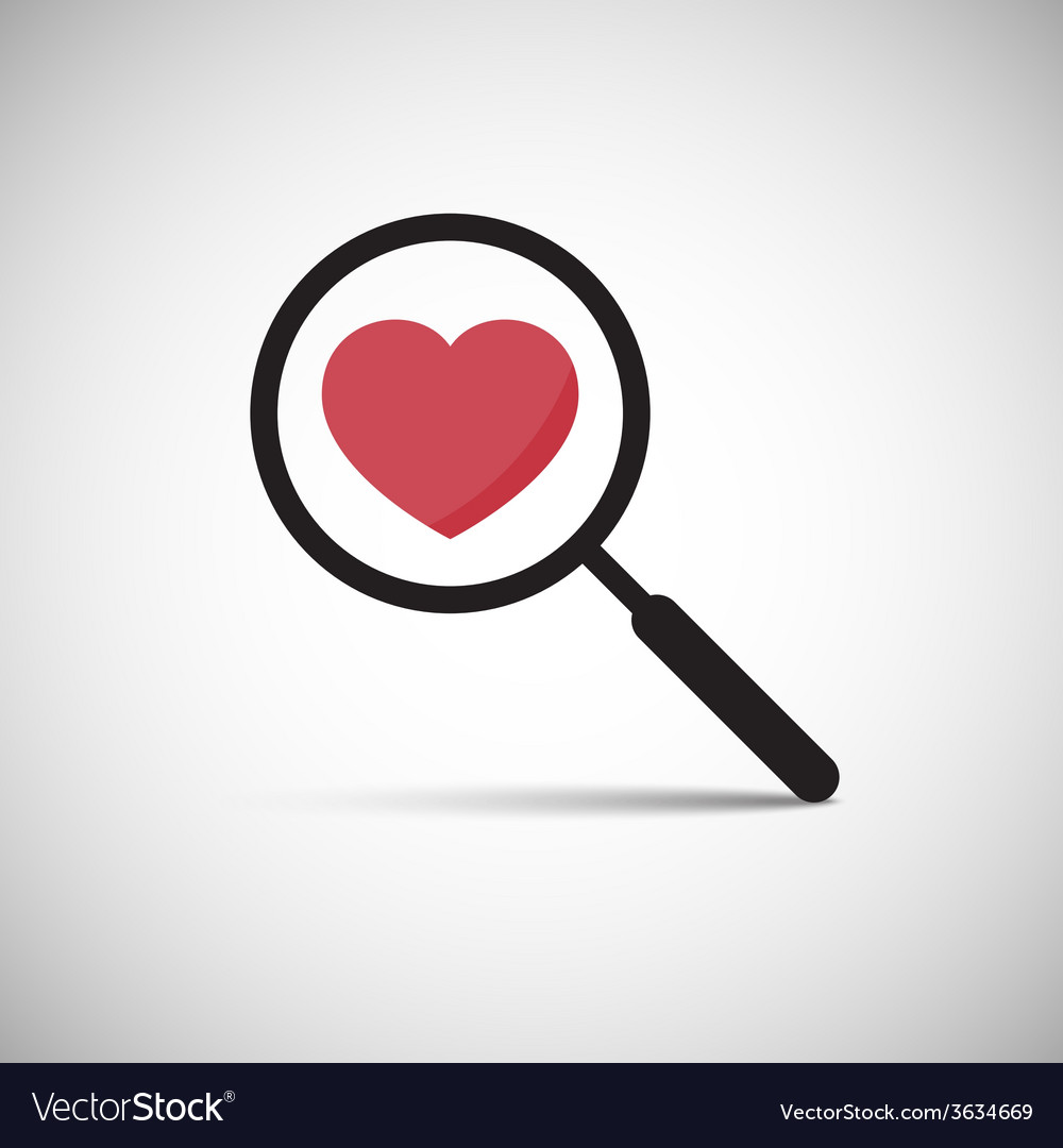 Love heart magnify vector | Price: 1 Credit (USD $1)
