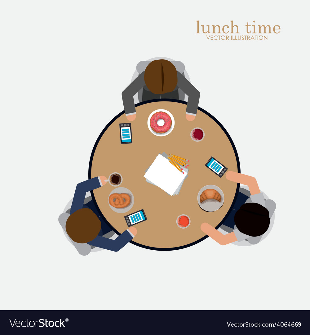 Lunch time desing vector | Price: 1 Credit (USD $1)