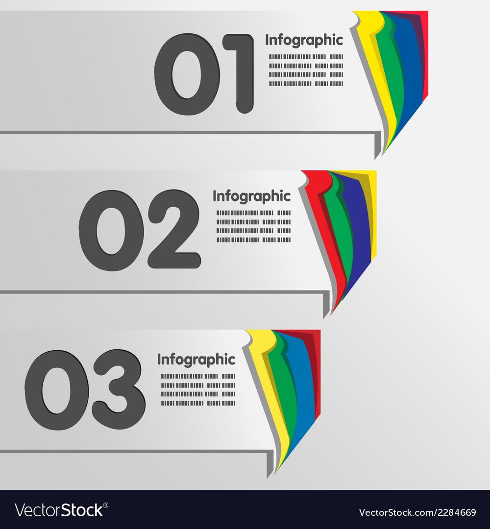 Paper color tab vector | Price: 1 Credit (USD $1)