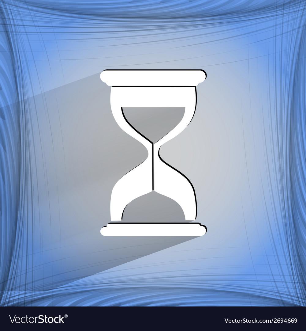 Sand clock glass timer  flat modern web button vector | Price: 1 Credit (USD $1)