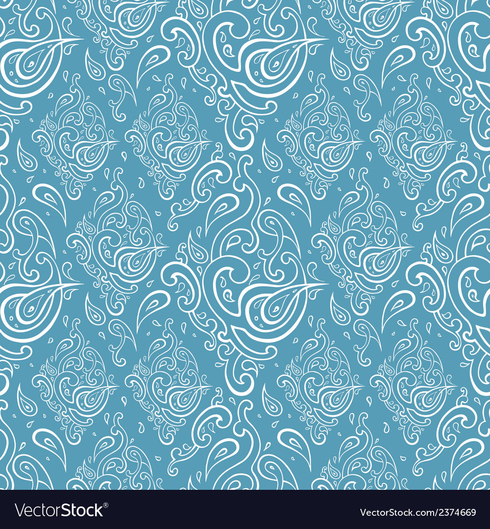 Seamless paisley background vector   Price: 1 Credit (USD $1)