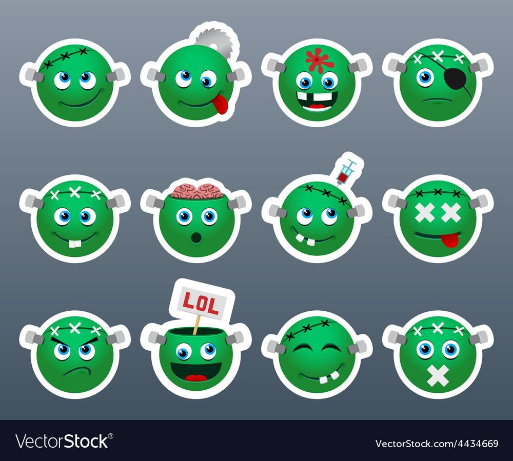 Stickers frankenstein vector | Price: 1 Credit (USD $1)