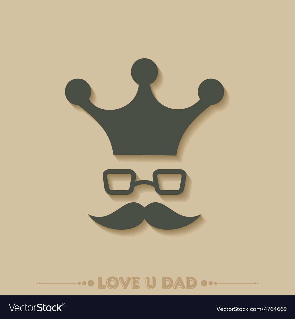 Stylish happy fathers day greeting stock vector | Price: 1 Credit (USD $1)