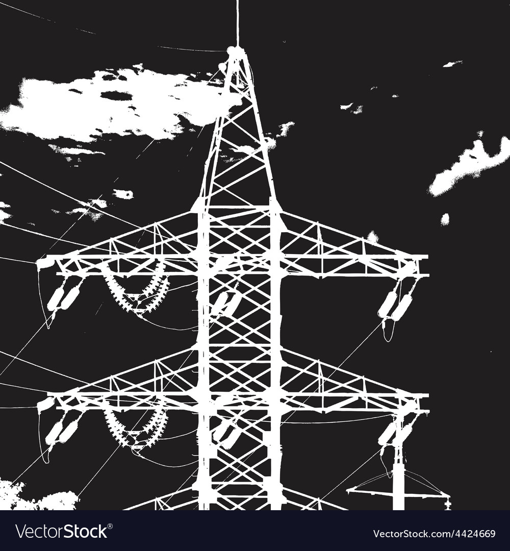 Tower electric closeup vector | Price: 1 Credit (USD $1)