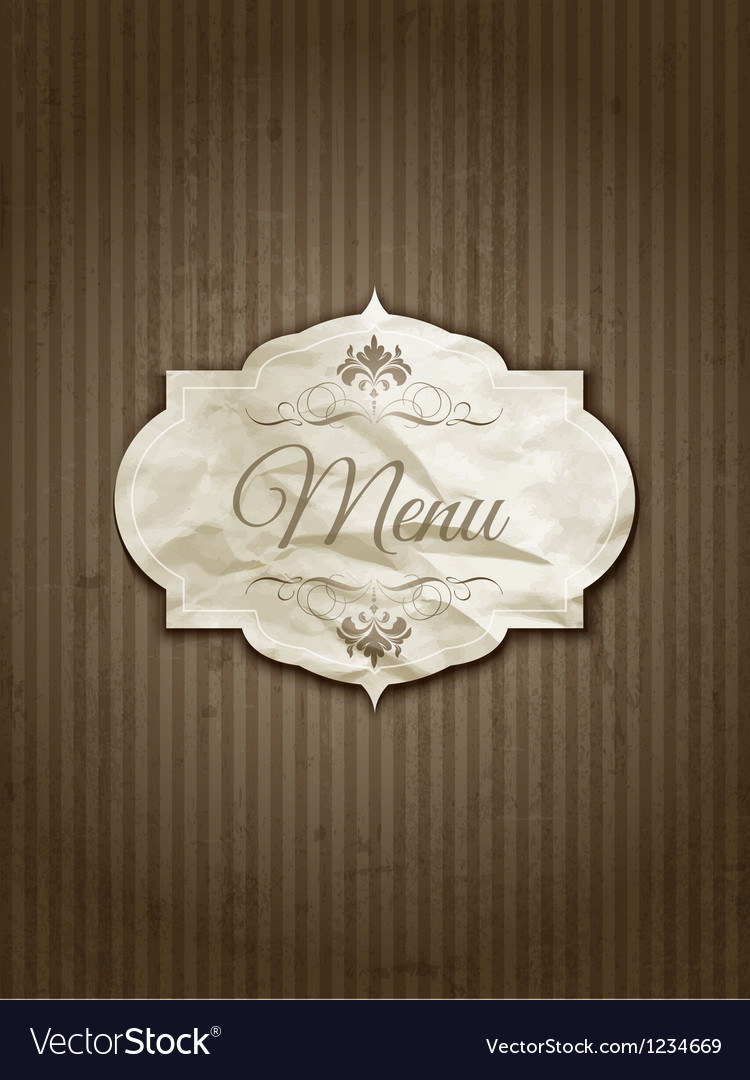 Vintage menu design vector | Price: 1 Credit (USD $1)