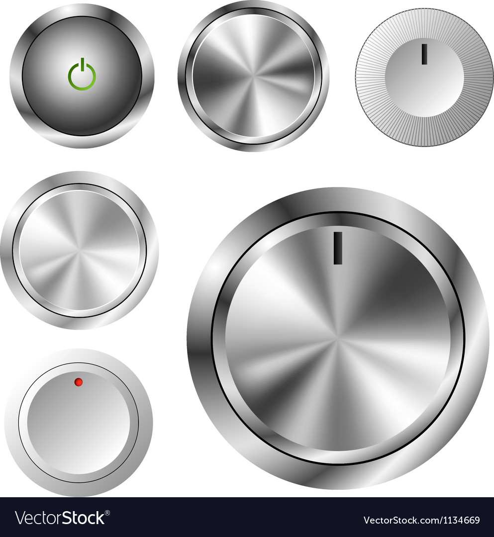 Volume knob set vector | Price: 1 Credit (USD $1)