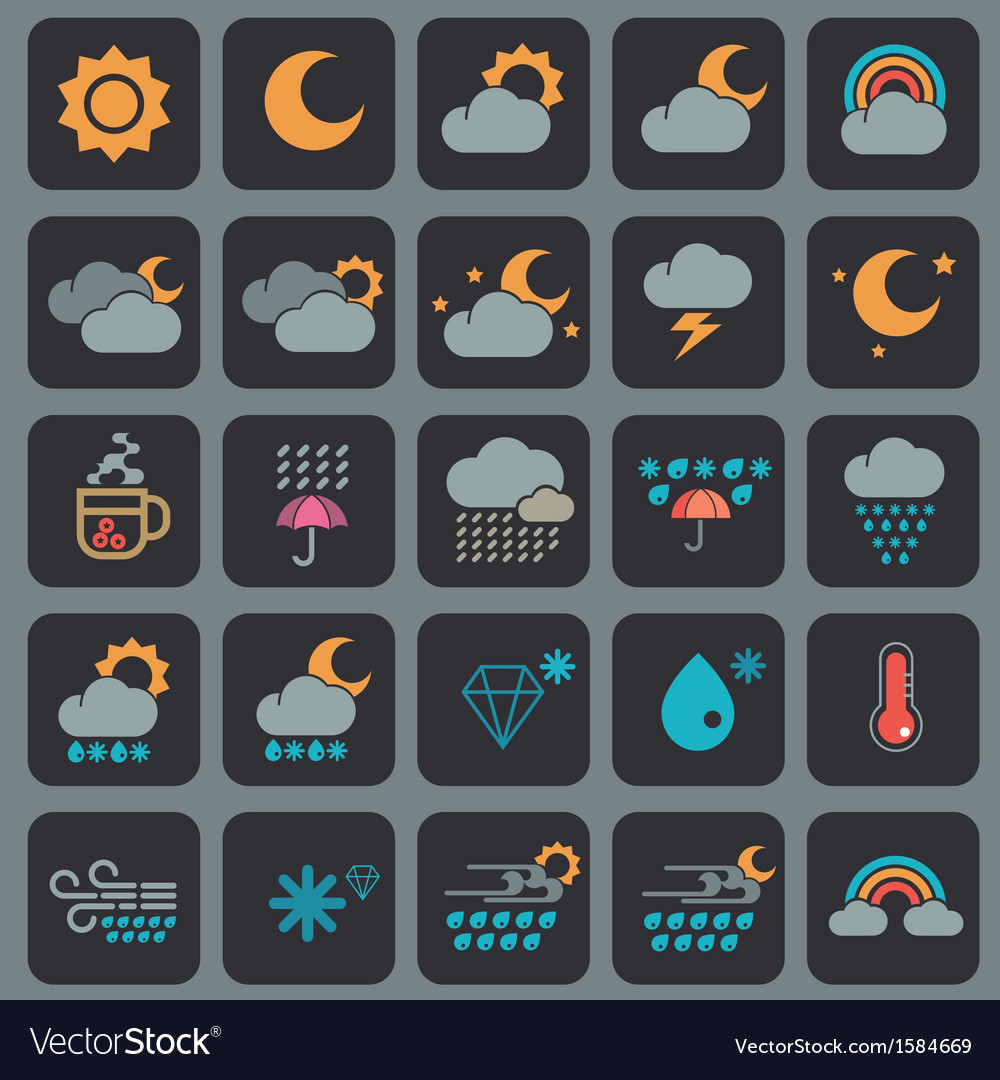 Weather icons design vector   Price: 1 Credit (USD $1)