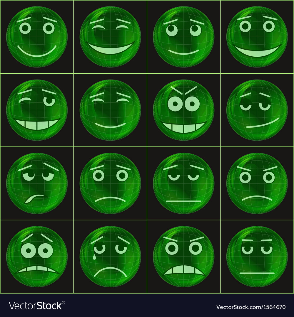 Bubbles smileys green vector   Price: 1 Credit (USD $1)