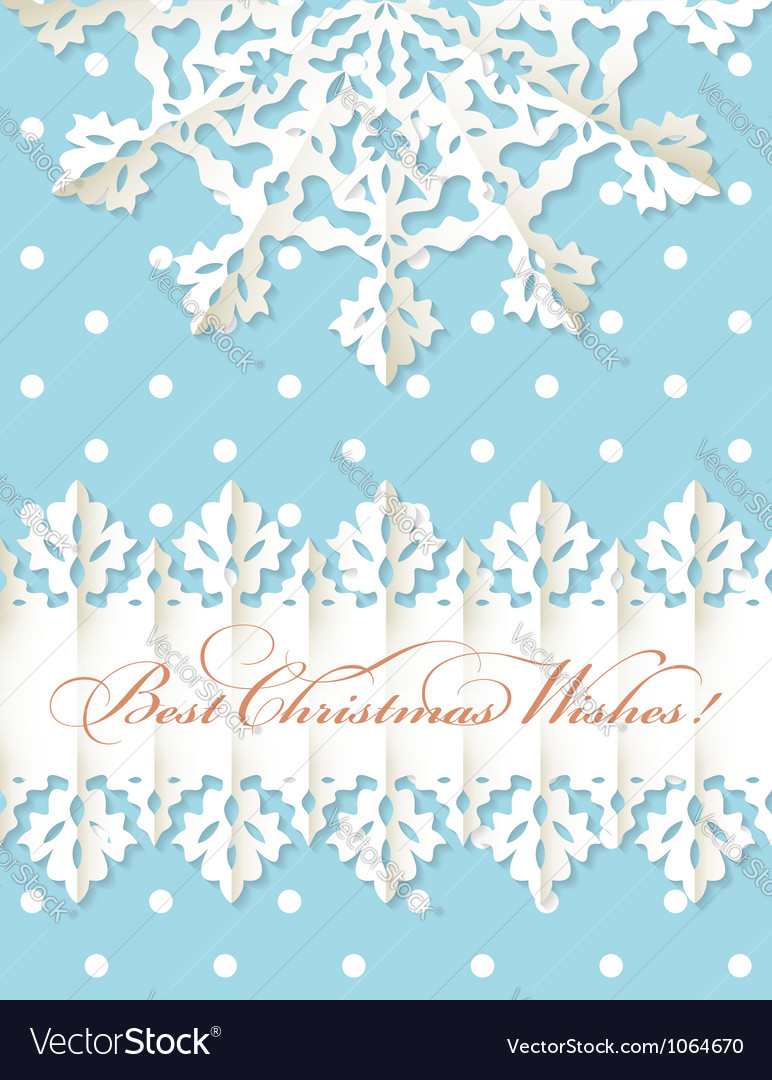 Christmas origami snowflake background vector | Price: 1 Credit (USD $1)