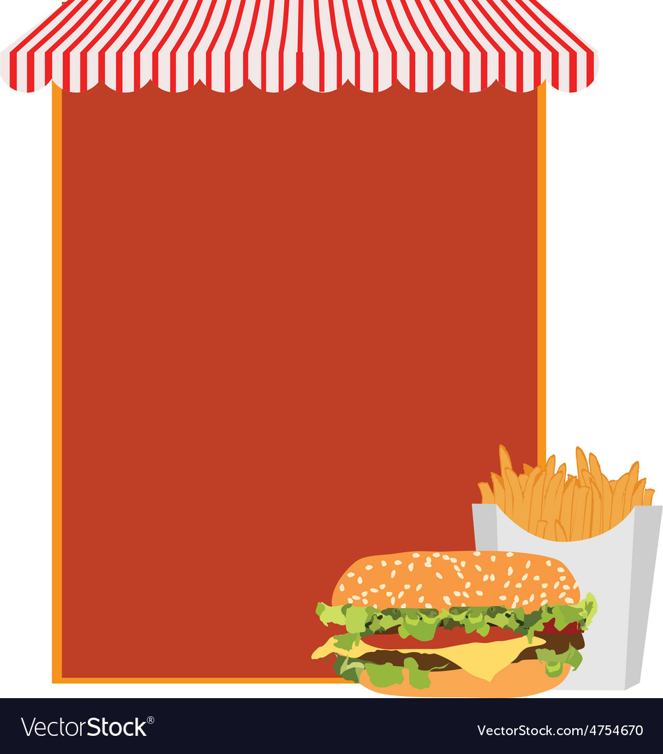 Fast food menu vector | Price: 1 Credit (USD $1)