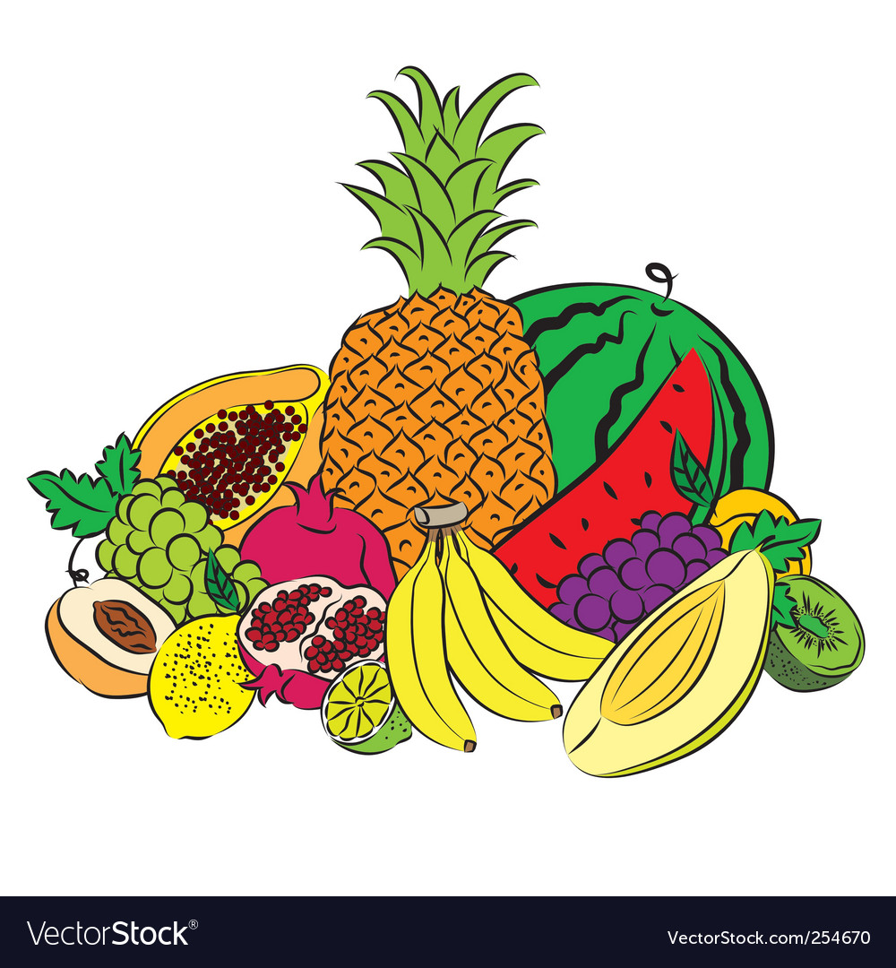 Fruits colored vector | Price: 1 Credit (USD $1)
