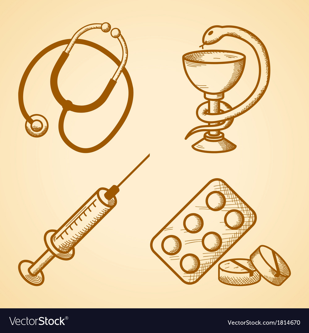 Icons set of medical items vector | Price: 1 Credit (USD $1)