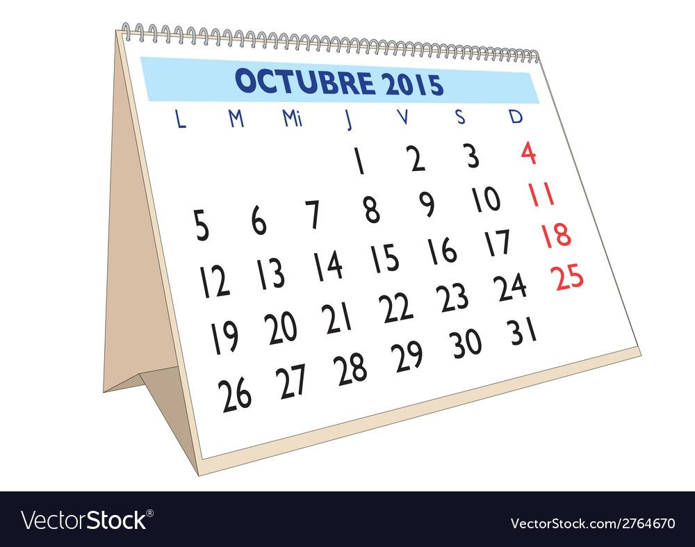 Octubre 2015 vector | Price: 1 Credit (USD $1)