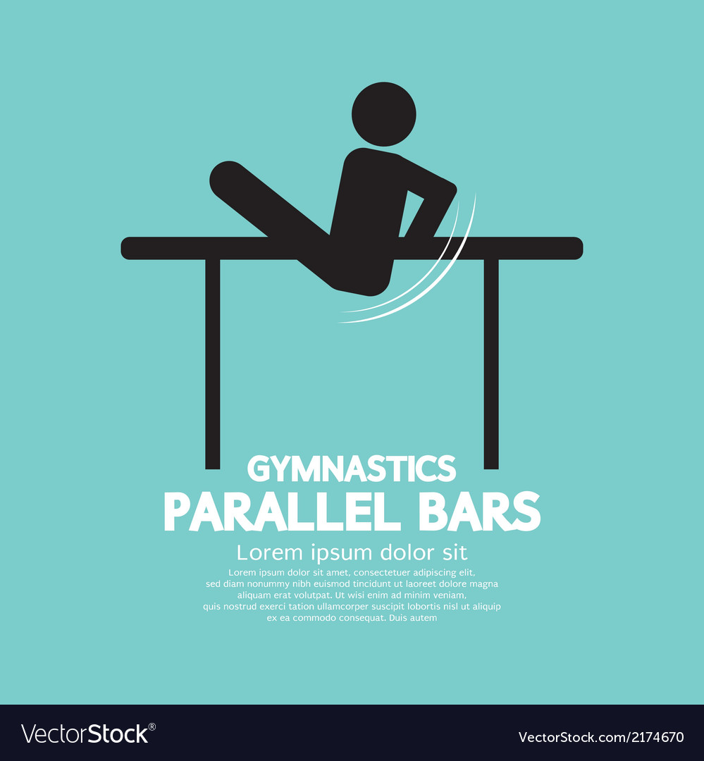 Parallel bars gymnastics vector | Price: 1 Credit (USD $1)