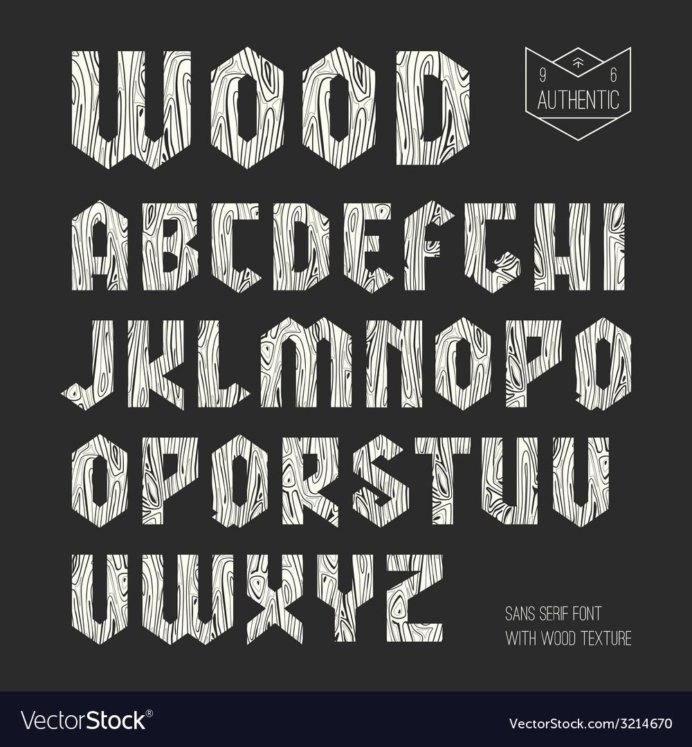 Sans serif geometric font vector | Price: 1 Credit (USD $1)