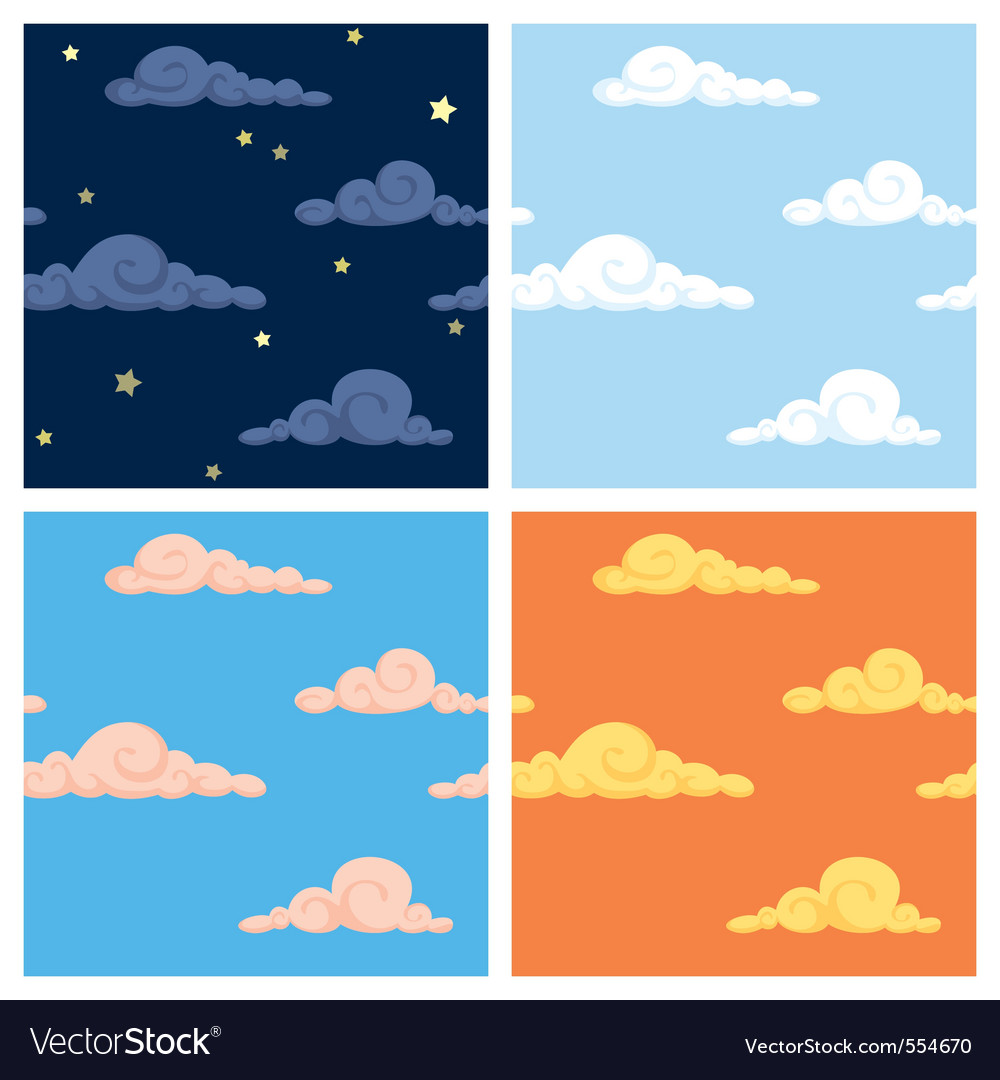 Sky patterns vector | Price: 1 Credit (USD $1)