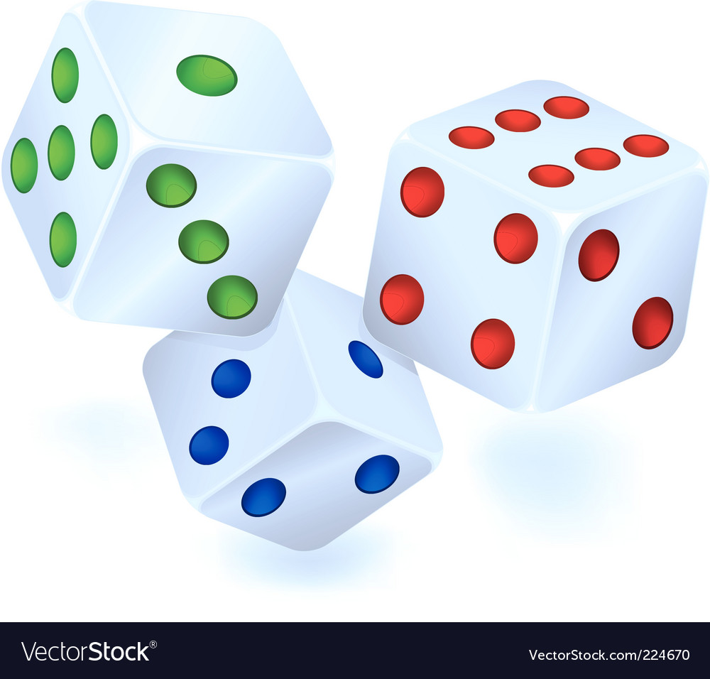 Three dices for dribbling vector | Price: 1 Credit (USD $1)