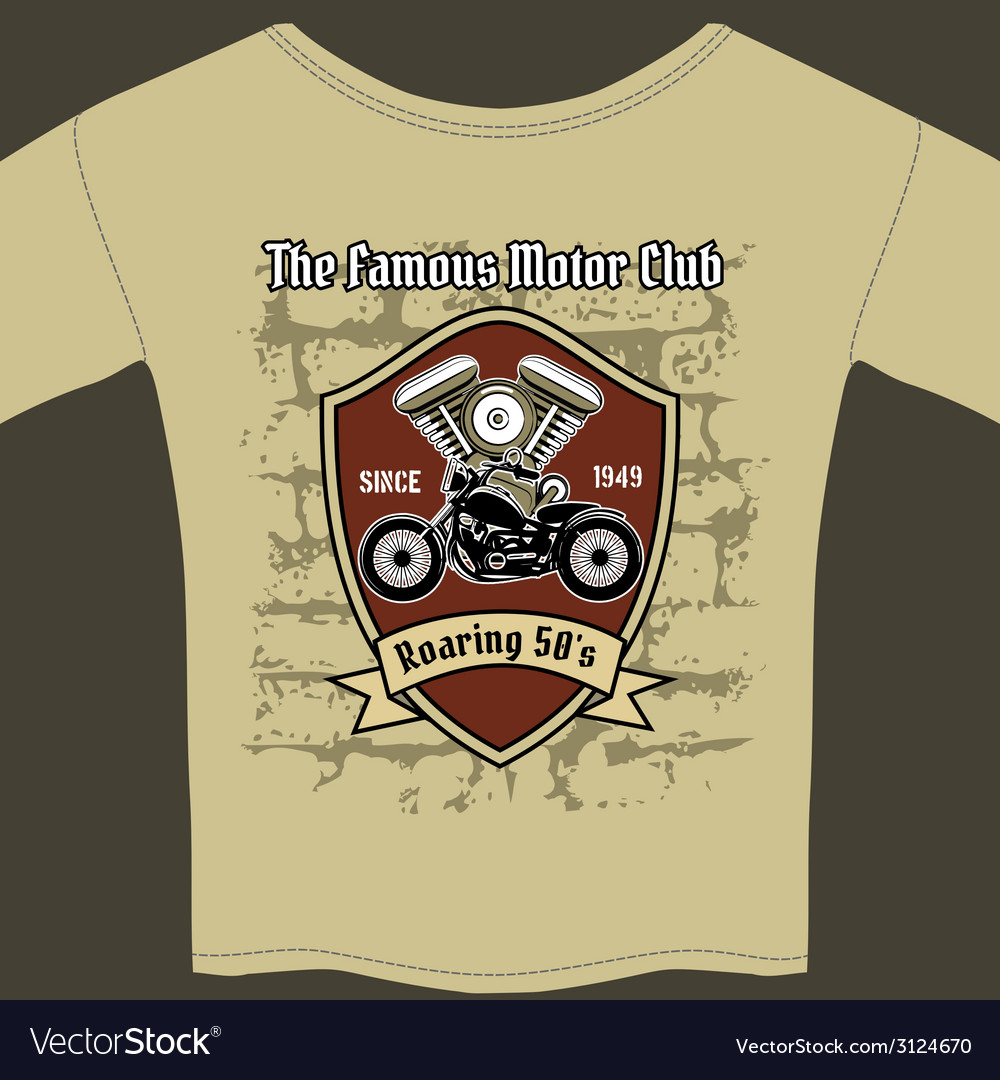 T-shirt design for a motorcycle workshop vector | Price: 1 Credit (USD $1)