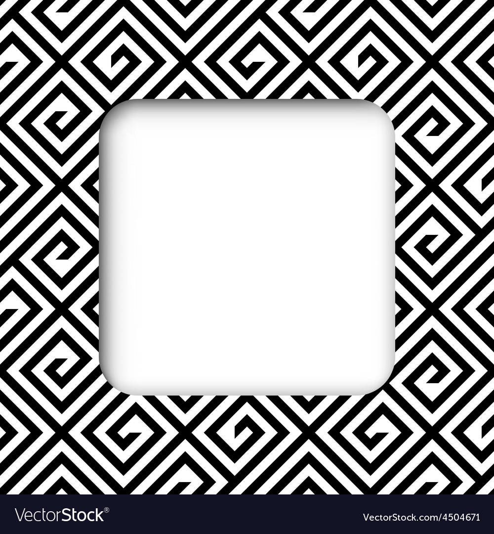 Abstract black and white zigzag frame banner vector | Price: 1 Credit (USD $1)