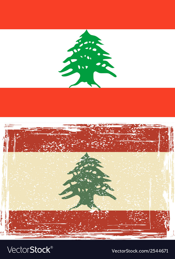 Lebanon grunge flag vector | Price: 1 Credit (USD $1)
