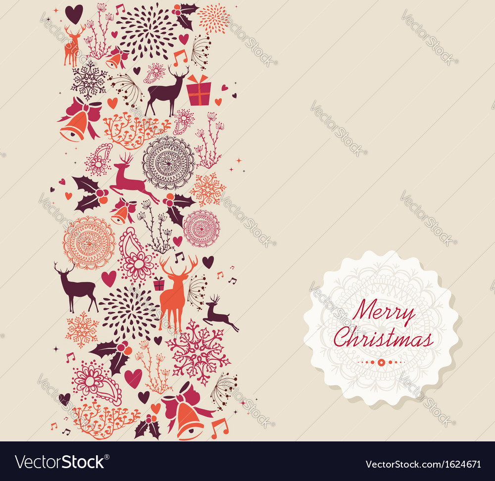 Merry christmas elements seamless pattern vector | Price: 1 Credit (USD $1)