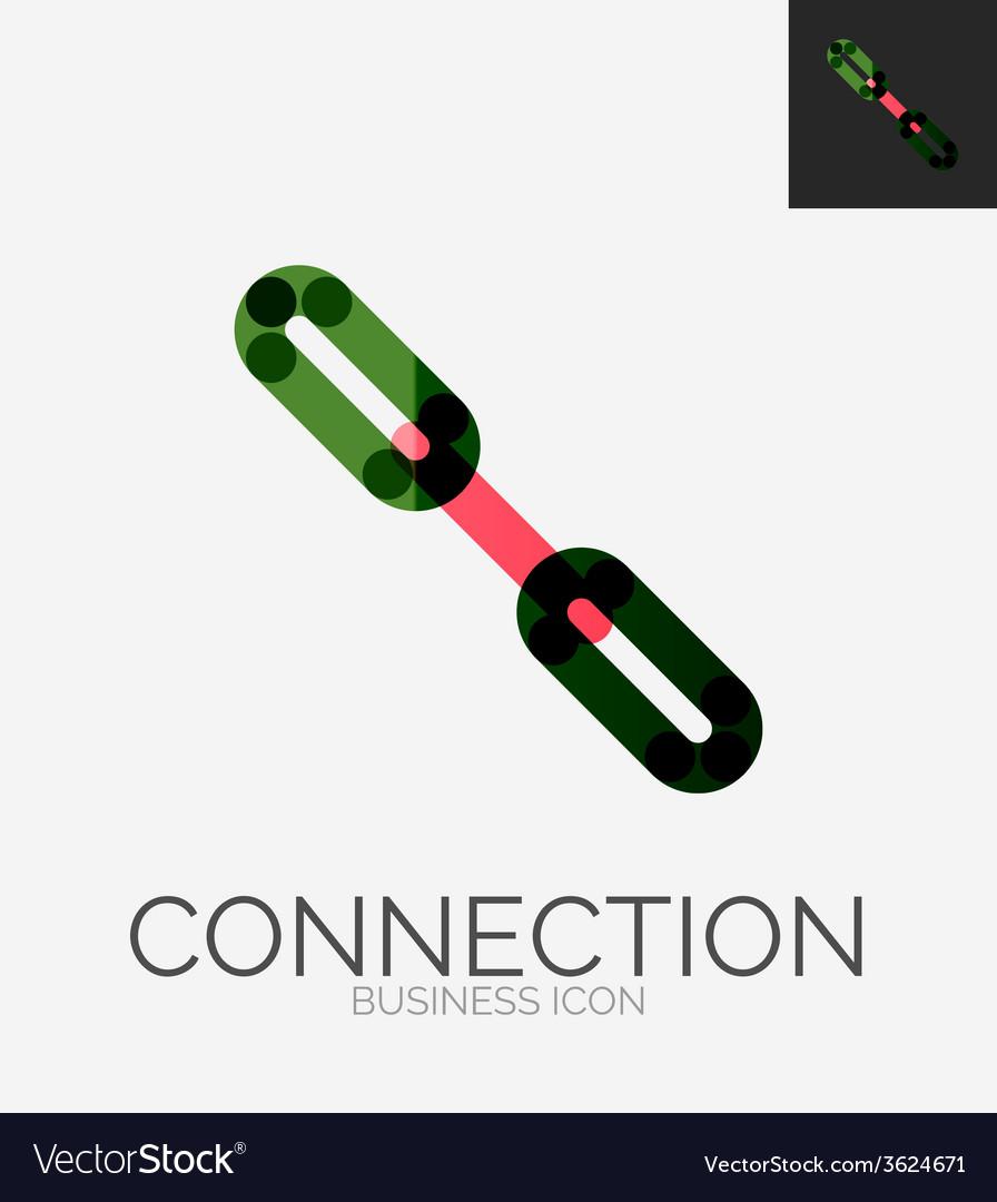 Minimal line design logo chain icon vector | Price: 1 Credit (USD $1)