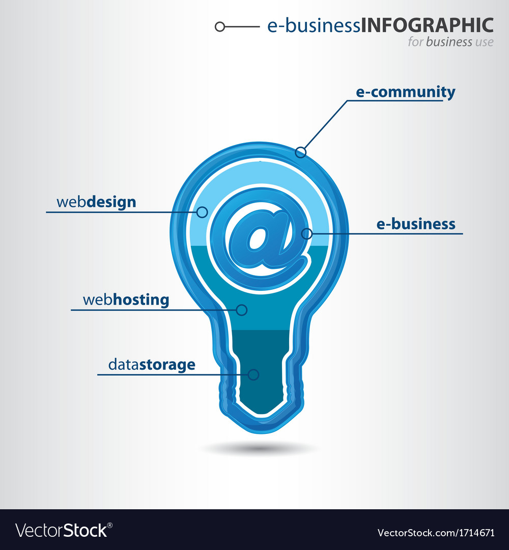 Modern high-tech bulb info graphic vector | Price: 1 Credit (USD $1)